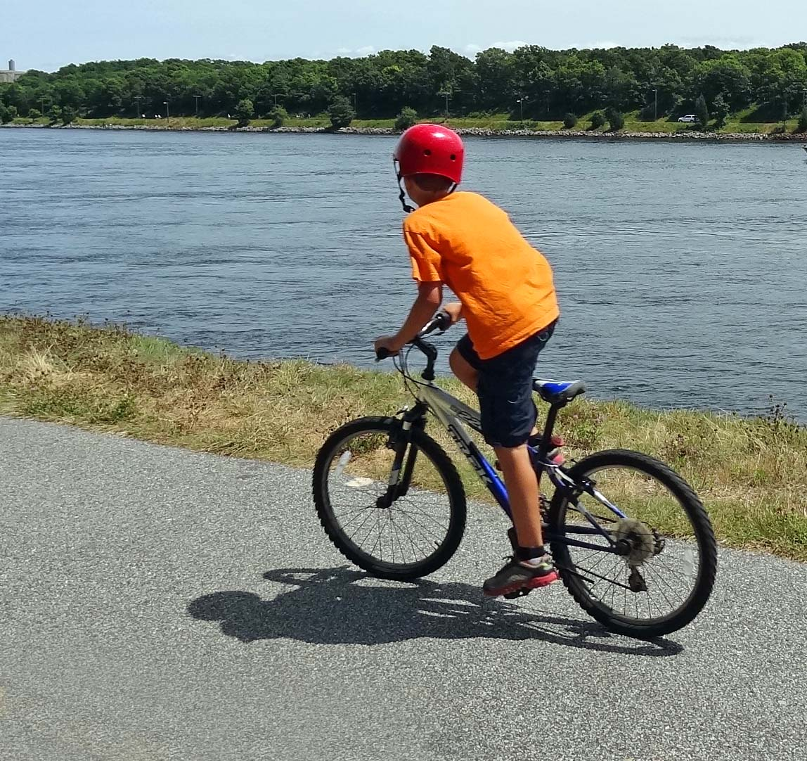Kid On Bike Picture