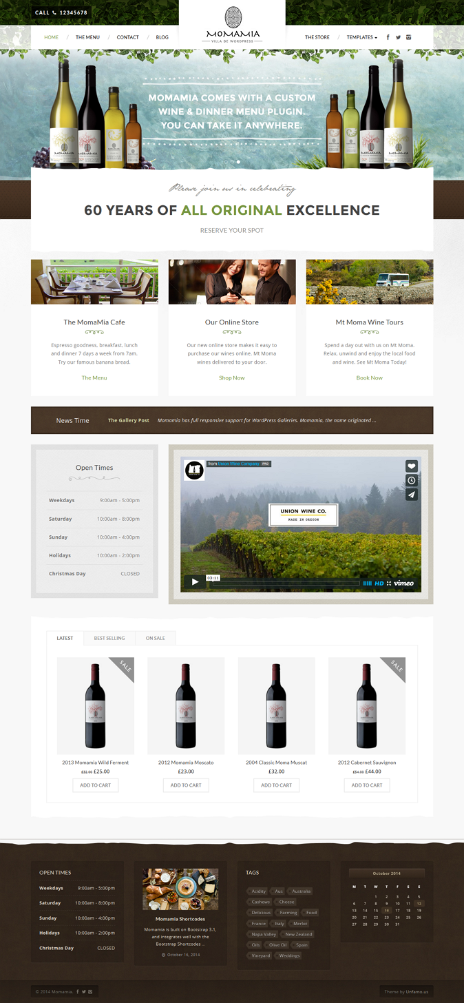 best Restaurant & Winery Theme