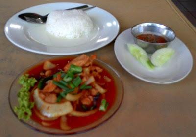Ayam Masak Merah Restoran Vicchunda Tomyam and Seafood