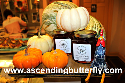 Talula's Table, historic Kennett Square, Pennsylvania, Brandywine Valley, #BVFoodie, honey on display, pumpkins, rooster, fall