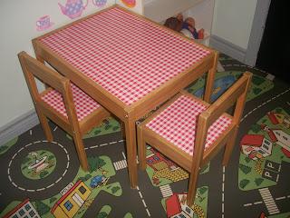 Table et chaises, Enfant, table enfant, pique-nique, rouge et blanc