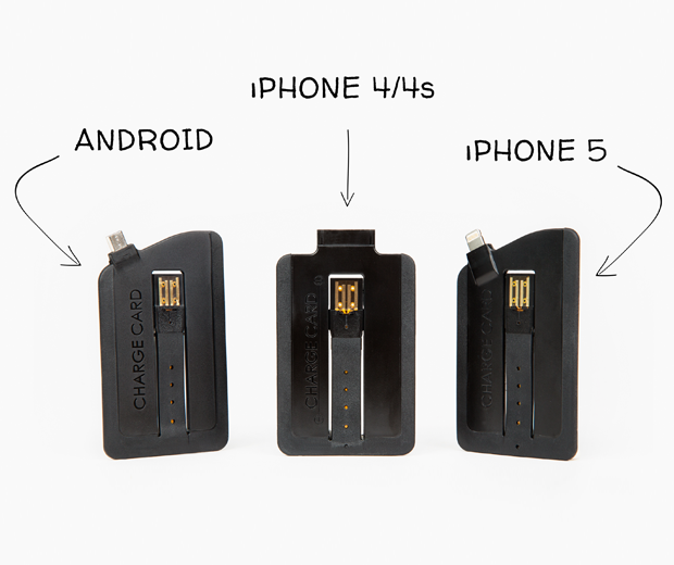The ChargeCard: A Super Slim USB Cable For Your Phone