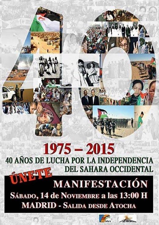 Madrid, 14/11: manifestación estatal en solidaridad con el pueblo saharaui