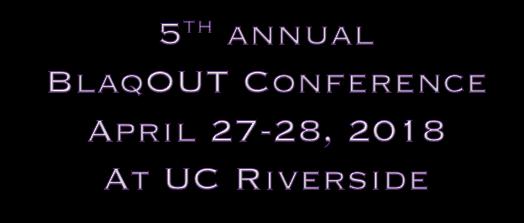 BlaqOUT Conference ~ UC Davis ~ April 21-23, 2017
