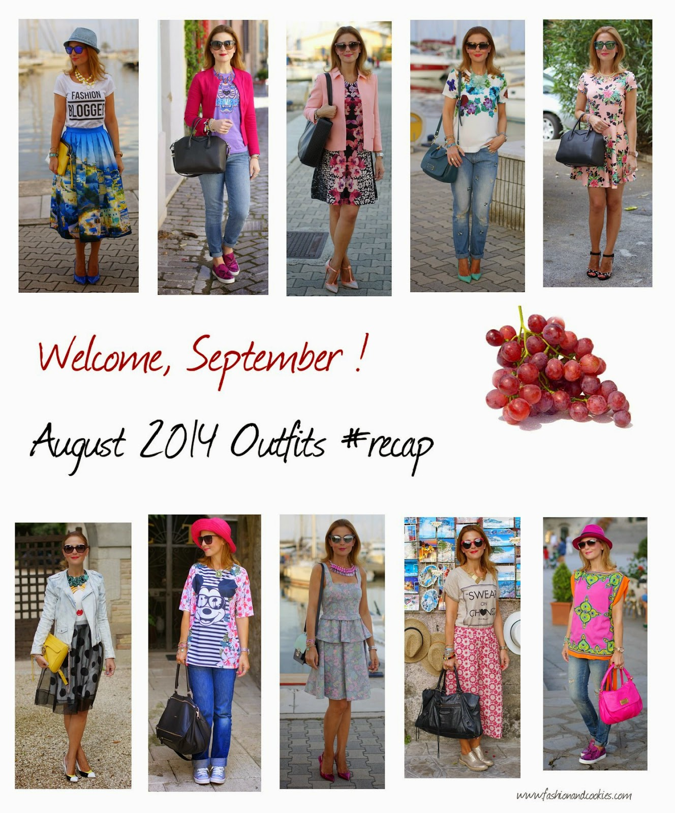 Welcome September, August 2'14 outfits recap, Fashion and Cookies, fashion blogger