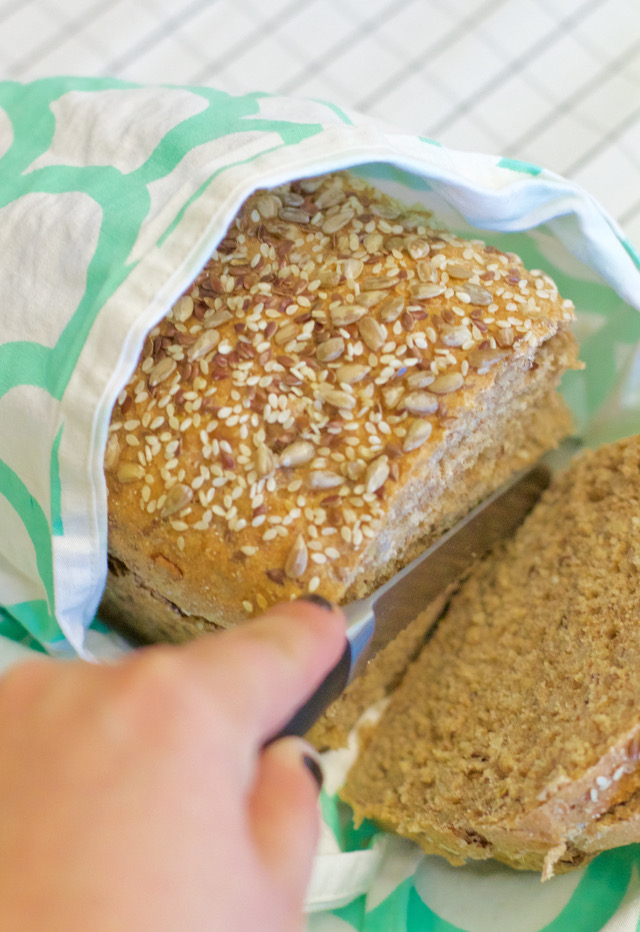 Kansas City Heirloom Sunflower Flax Seed Bread