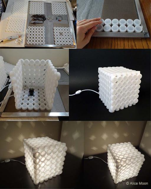 lámpara tapones plástico