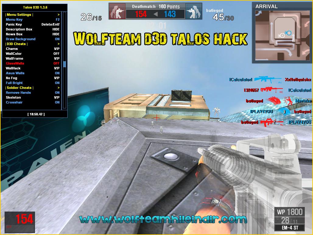 Wolfteam Talos D3D Hack v1.3.6