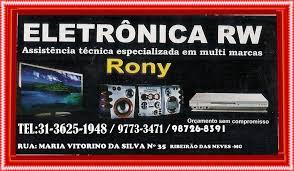 eletronica rw especializada em tvs ,som e video