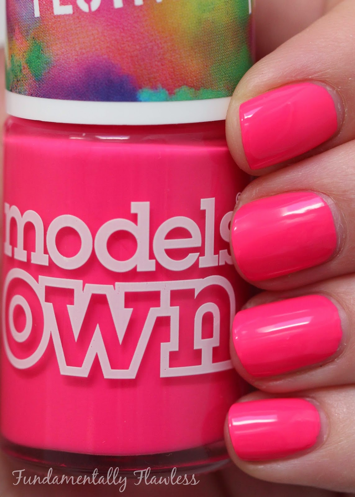 Models Own Festival Collection Pink Wellies swatch