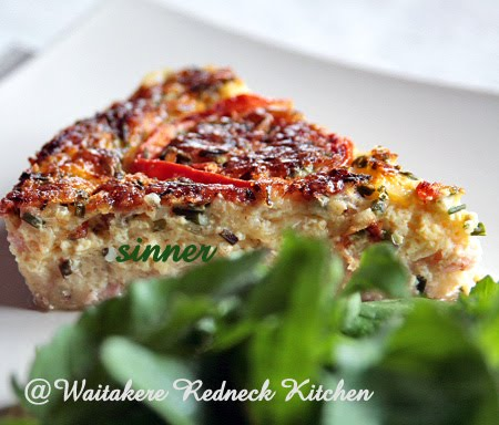 Crustless Salmon Quiche