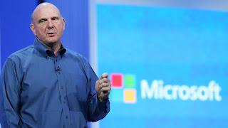 Le directeur général du géant américain des logiciels Microsoft, Steve Ballmer, lors d'une conférence, le 26 juin 2013 à San Francisco