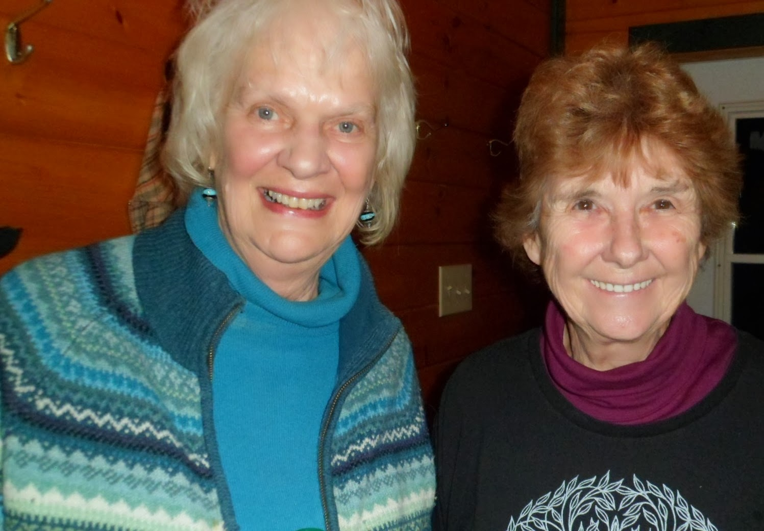 Joan Clark with Joan Baril