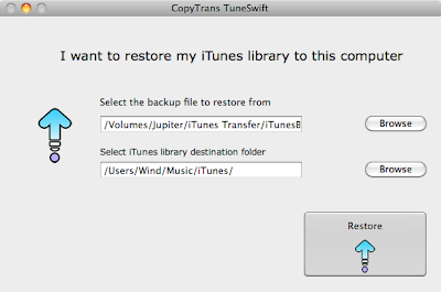 transfer itunes database to mac
