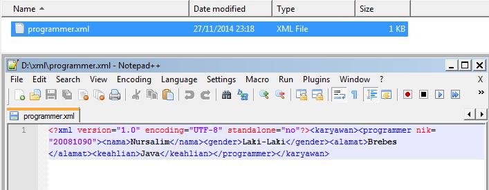 Membuat File XML Menggunakan DOM Parser