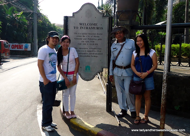 three friends in Intramuros