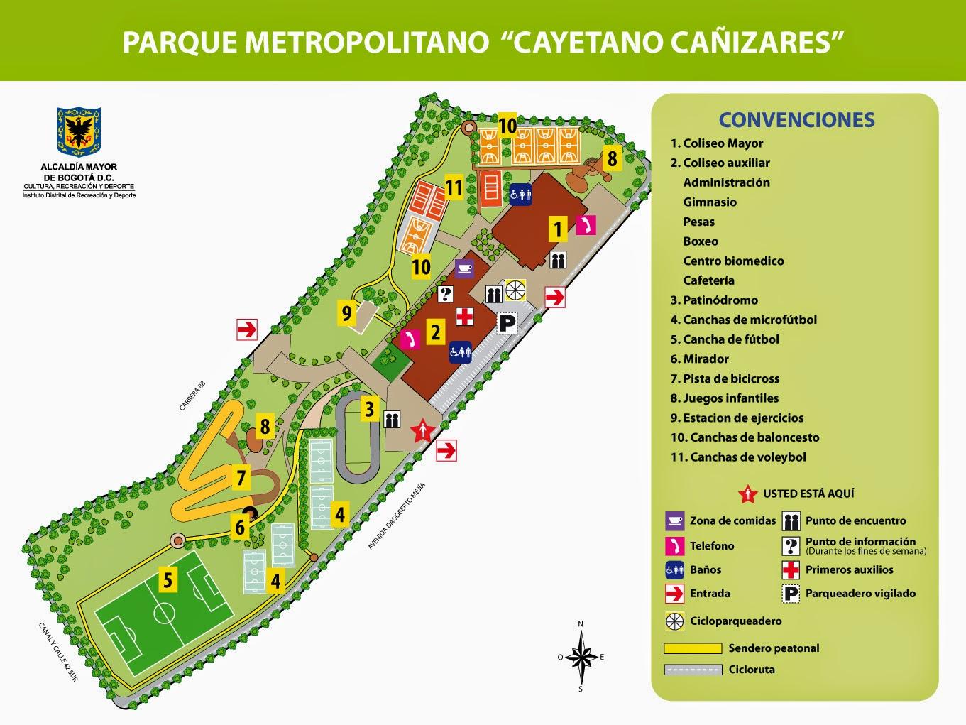 Parque metropolitano cayetano ca izares zona bogota dc for Arriendos en ciudad jardin sur bogota