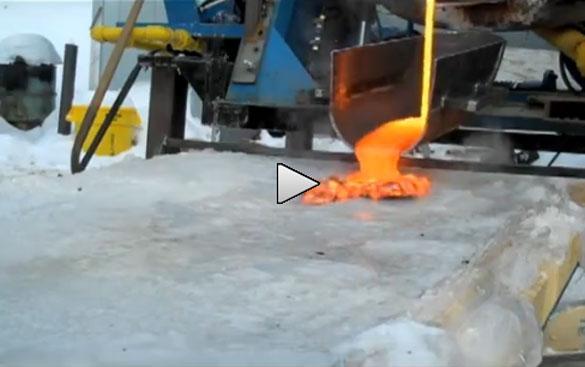 Λάβα εναντίον πάγου: Ένα ενδιαφέρον πείραμα (Video)