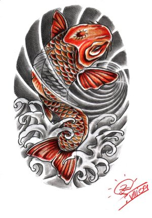 Japanese koi fish tattoo designs meaning for Japanese koi design