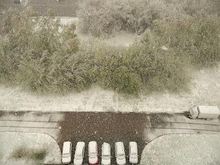 11 мая, снегопад за окном!