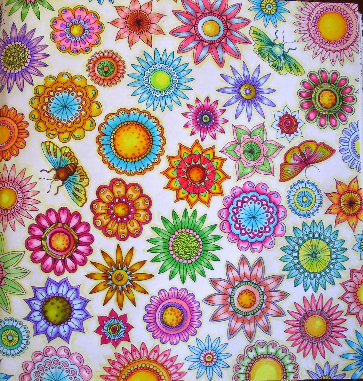 flores jardim secreto:BLOG DA BETH: Nova Dica de pintura no Livro Jardim Secreto