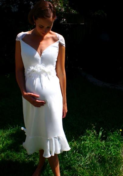 Maternity white wedding dress designs idea for Designer maternity wedding dresses