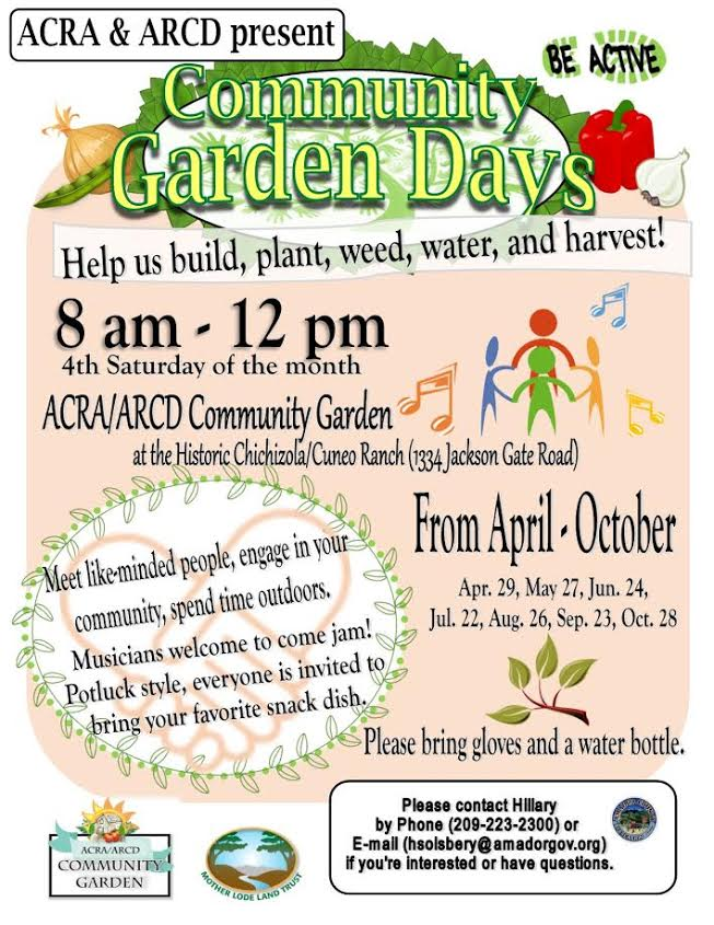 Community Garden Days - April thru Oct