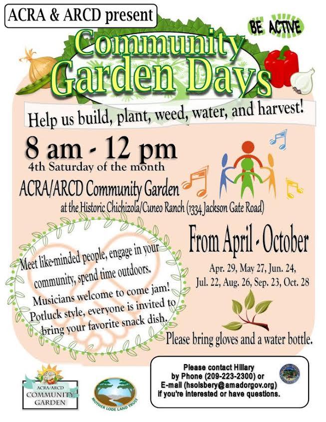 Community Garden Days - April thru Oct