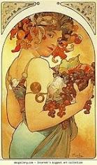 L'automne par Alfons Mucha, peintre, affichiste, graphiste ... tchèque.