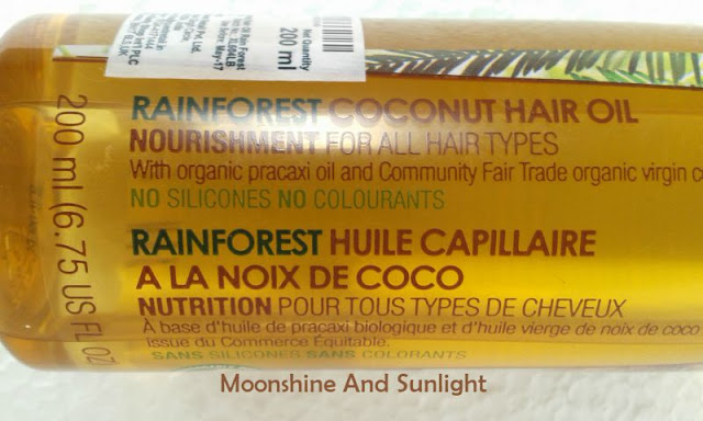 The Body Shop Rainforest Coconut oil | First impression