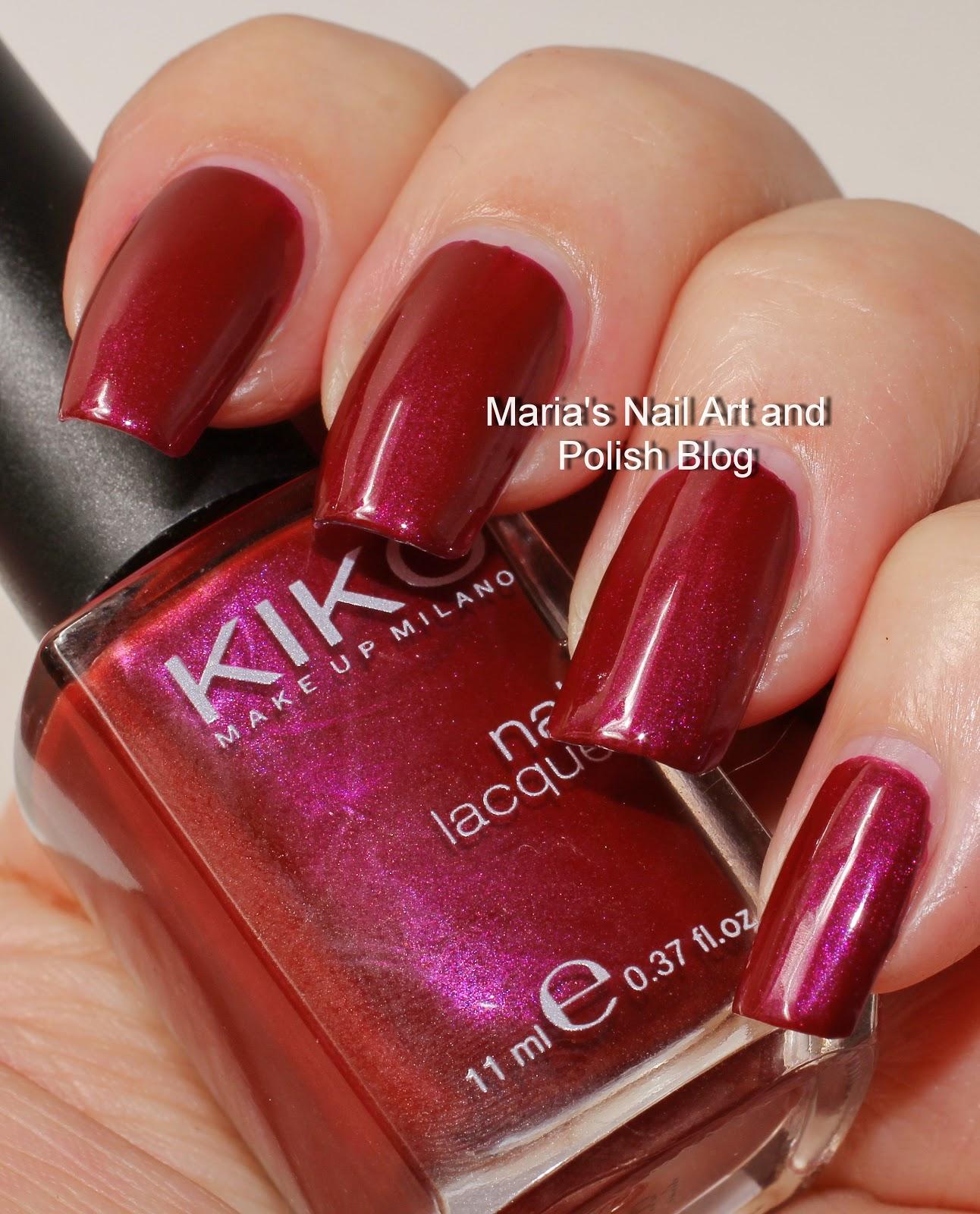 Marias Nail Art and Polish Blog: Kiko 343 Spring Green and 498 ...