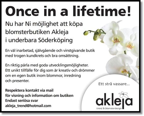 blomsterbutik till salu, akleja trend & blomsterdesign