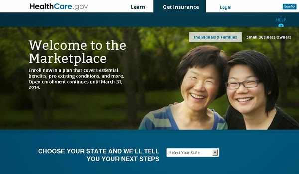 Healthcare.gov launch window, as it appeared on 2013-10-21
