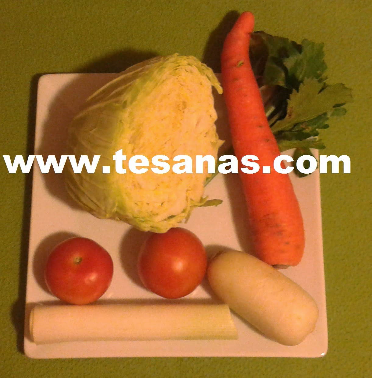verduras para el caldo depurativo
