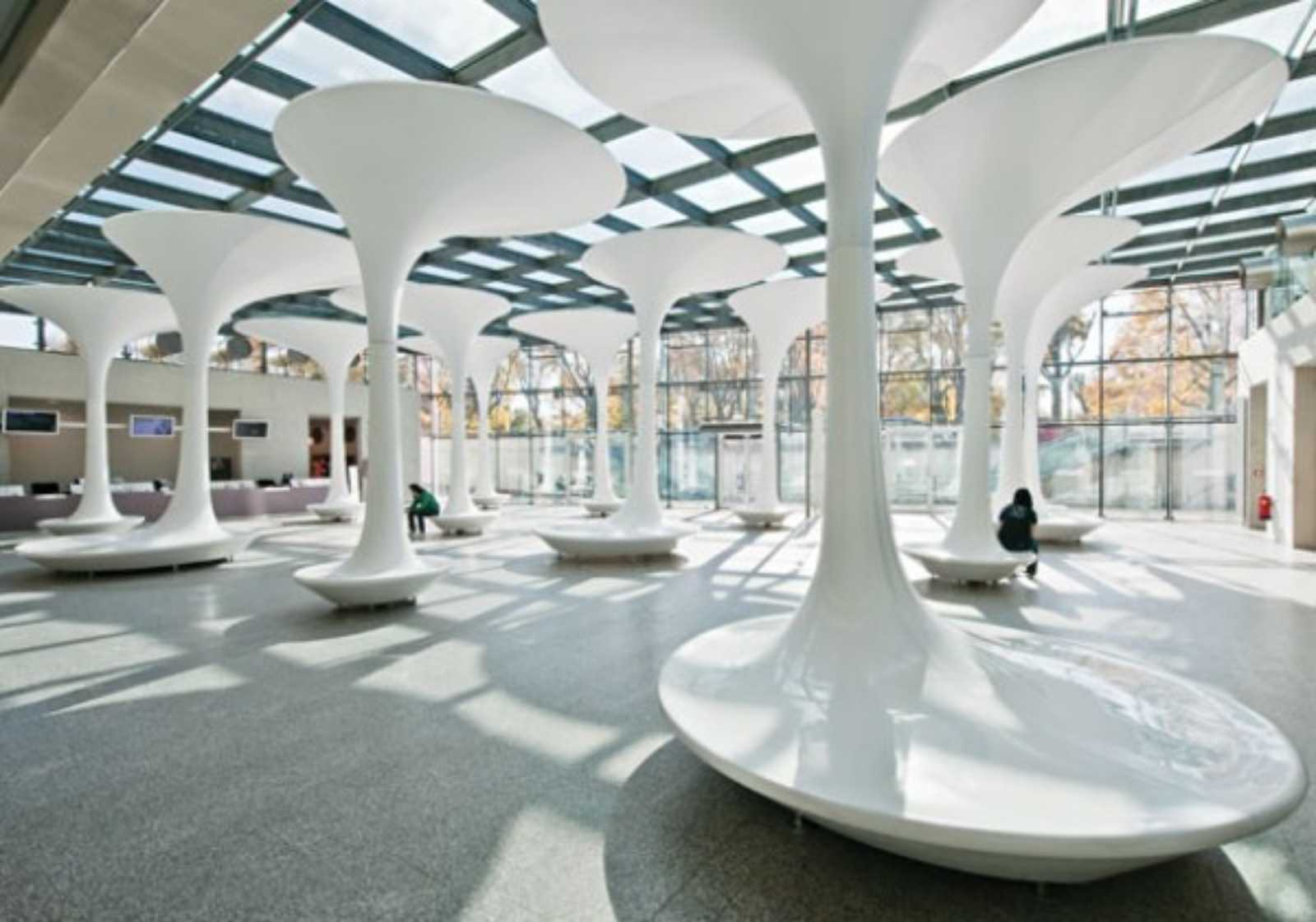 Foyer Architecture : Tmw technical museum entrance foyer by querkraft architects