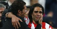 Falcao llora tras derrotar al Madrid en la final de Copa