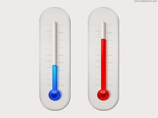 Thermometers Icon PSD