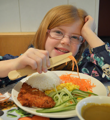 Child-sized chopsticks at wagamama Newcastle