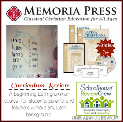 Latina Christiana from Memoria Press~ Curriculum Review