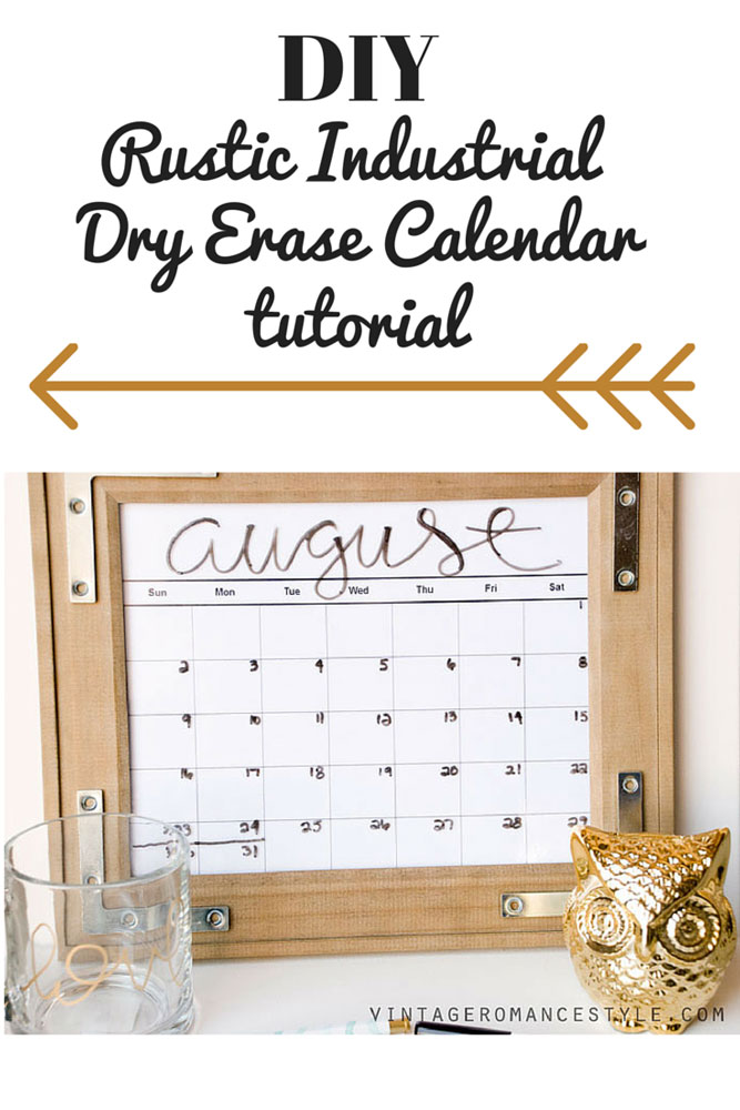 Diy rustic industrial dry erase calendar bloomburgeon yippee yesterday marked the first day of third and first grade for my two oldest children i still cant believe they are growing so fast solutioingenieria Image collections