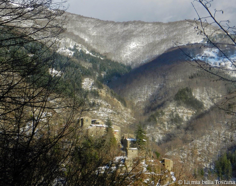 Neve, Pratomagno, Valdarno, Toscana