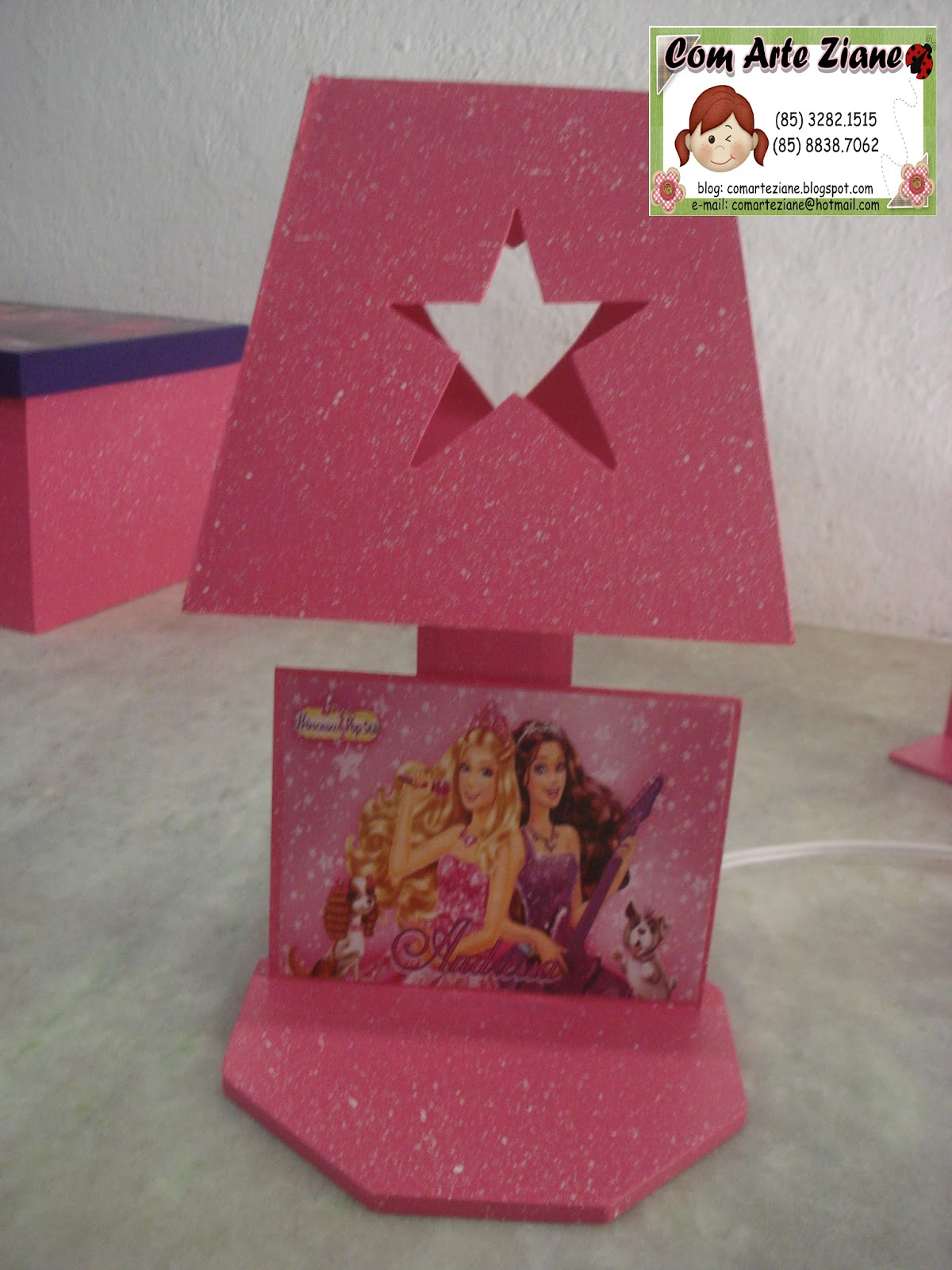 Com Arte Ziane: KIT DE QUARTO BARBIE POP STAR #8C3746 1200 1600