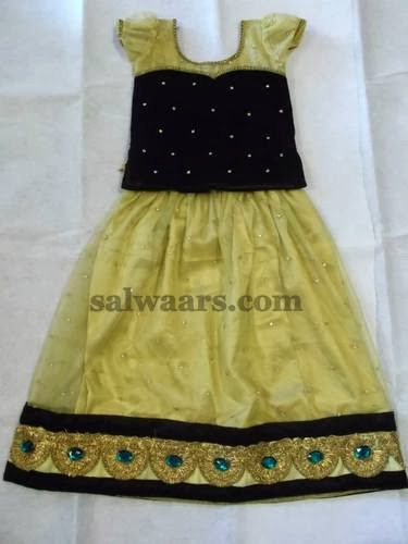 Sequins Velvet Kids Skirt