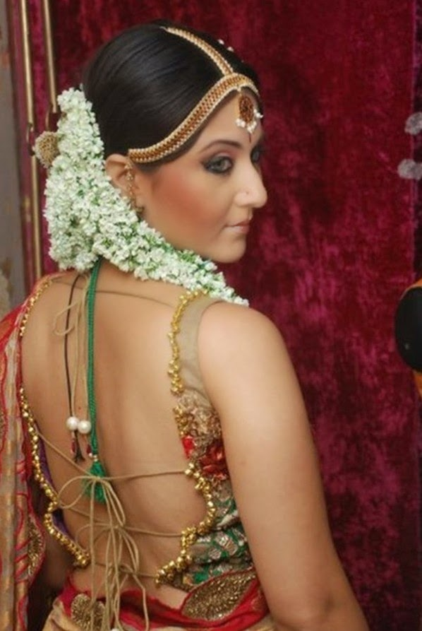 Apologise, but, Backless saree blouses designs for women are