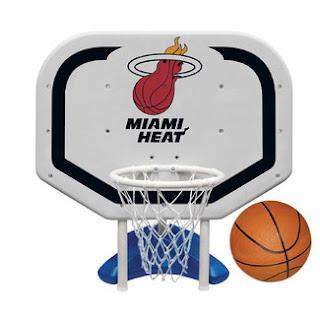Poolmaster Miami Heat NBA Pro Rebounder Basketball