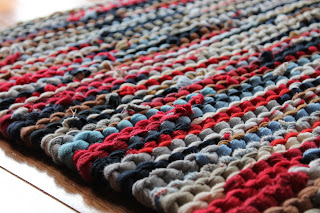 nautical t-shirt rug bathroom rug for vanity handmade by Handiworkin' Girls