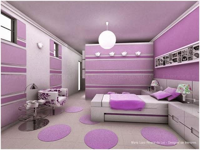 Dormitorios para chicas en color lila dormitorios - Dormitorios de chica ...