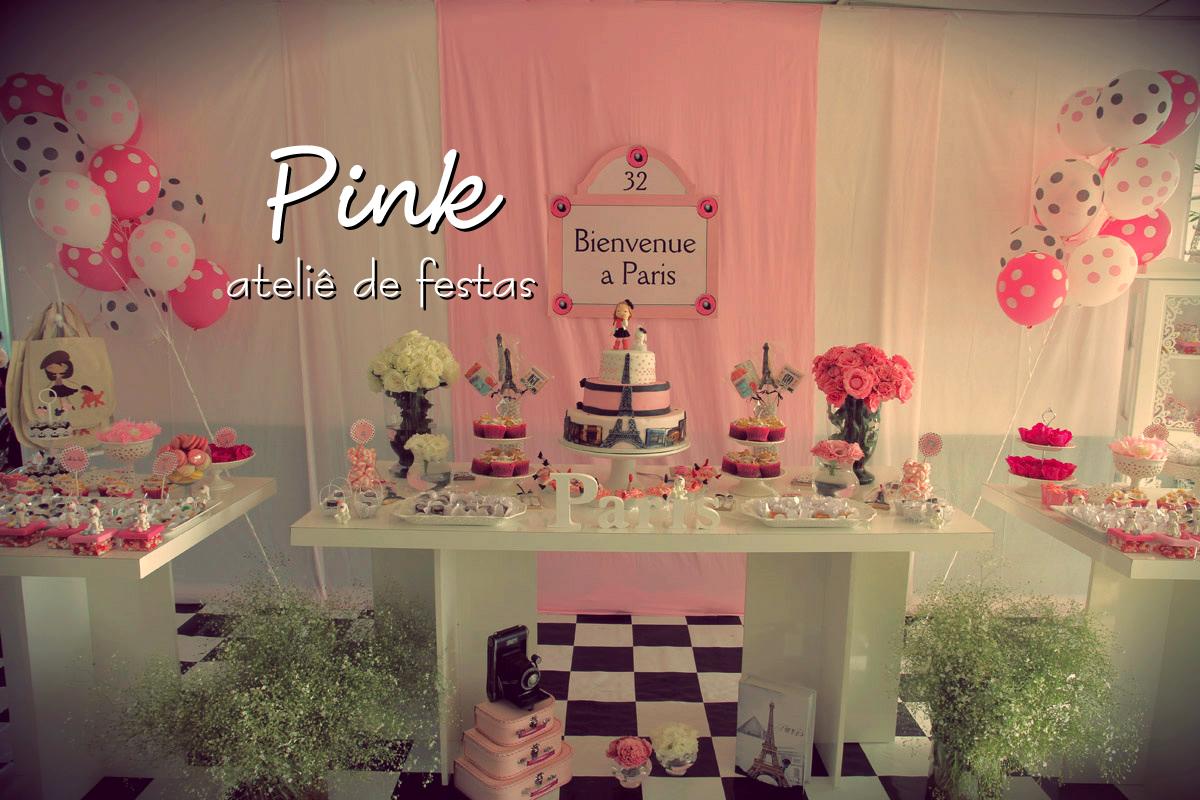 Conhecido Pink Ateliê de Festas: Festa Paris YX44