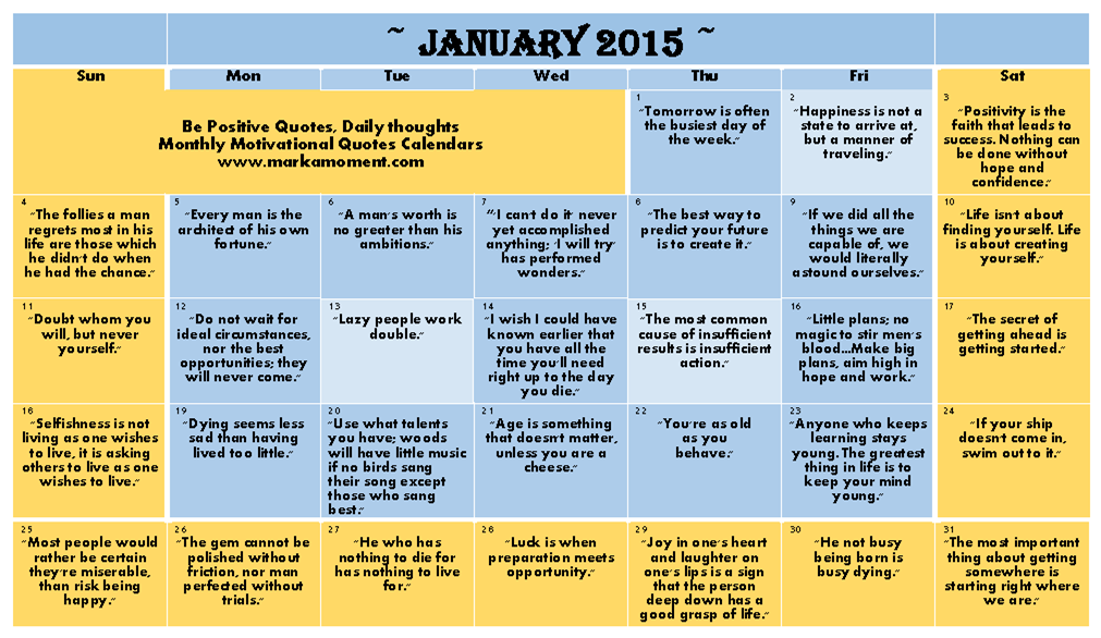 Monthly Calendar Quotations : Monthly calendar quotes quotesgram