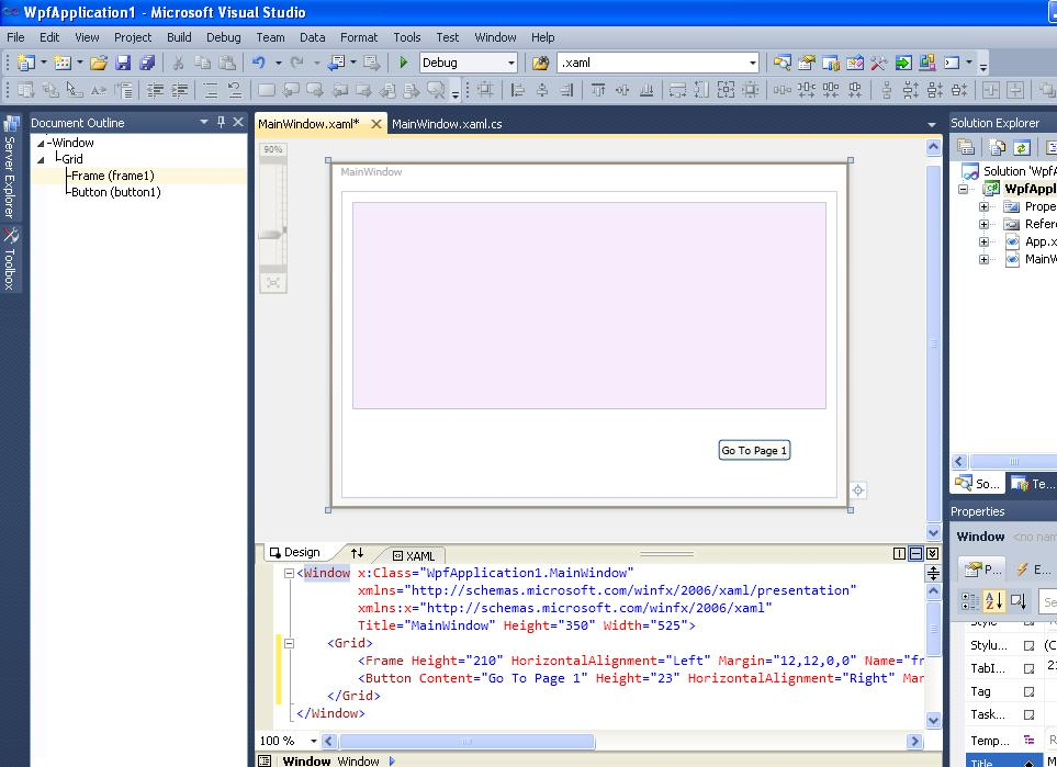 My Virtuosity: How to Navigate using Frame (Window to Page) WPF in C#